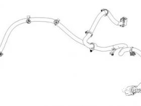 如何在线束2D图上确定定位夹视图?