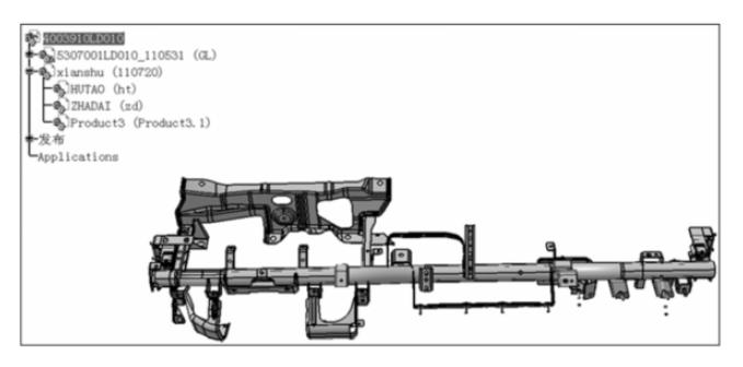 CATIA 布线在某高端轻卡车型上的实战作图