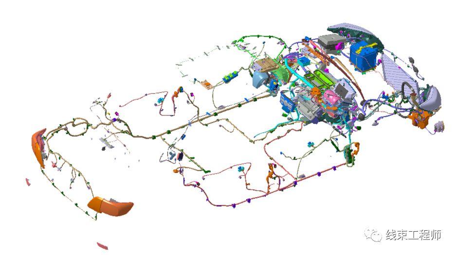 整车CATIA线束参考数据下载
