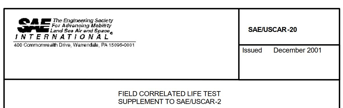 USCAR-20  线束接插件实验规范