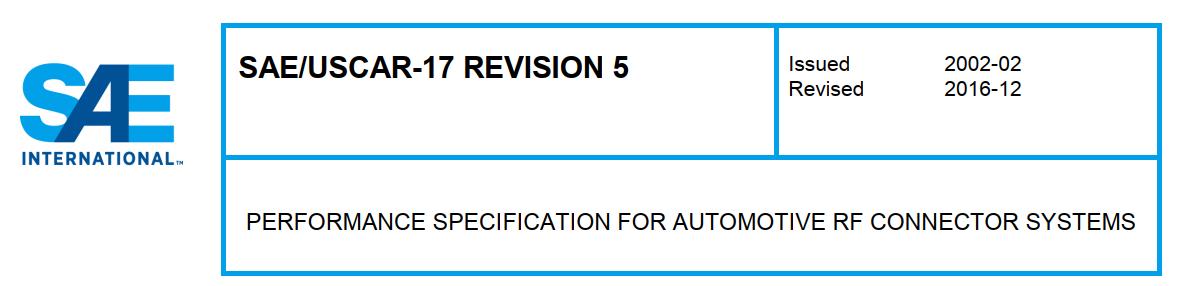 USCAR 17 射频连接器系统性能规范下载(PDF)