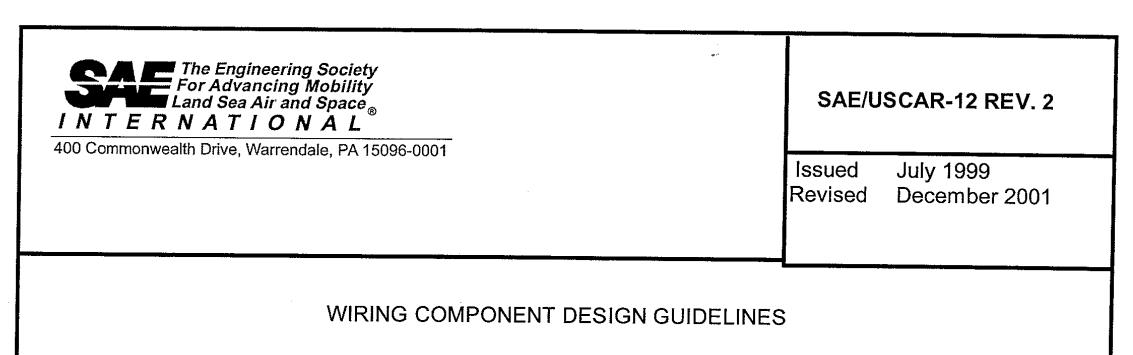 USCAR12端子接插件设计规范下载(PDF)
