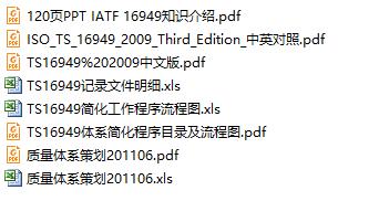 TS16949全套资料下载